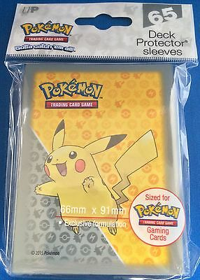 Ultra Pro Pikachu Deck Protector Trading Card Sleeves - 65 Pack - Pokemon Go