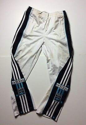 """ADIDAS rare trousers vintage retro oldschool 80s 90s pants 3 stripes poppers 26"""""""