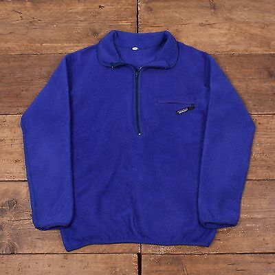 "Mens Vintage Patagonia Zip Up Fleece Jacket Blue M 38"" R4966"