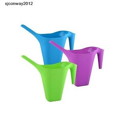 Red, Yellow, Green WC05 New AmerTac HoldAll 52oz Plastic Watering Can Lot of 3
