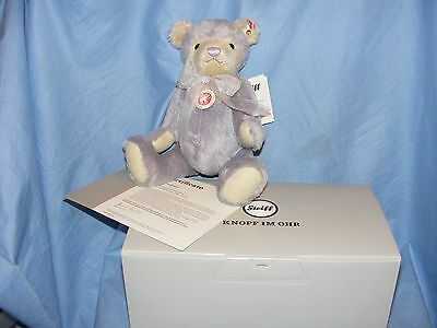 Steiff Teddy Bear Laurin Lilac Limited Edition Jointed 006487 New Present Gift