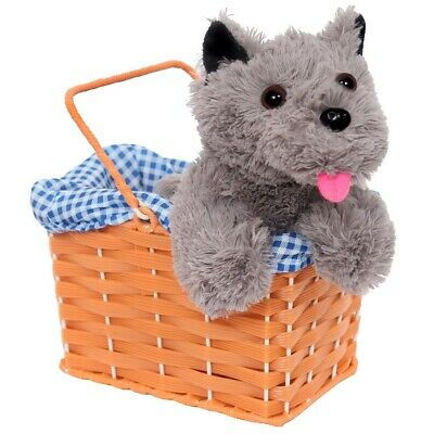 Cute Terrier Dog In Basket World Book Day Fancy Dress Costume Accessory