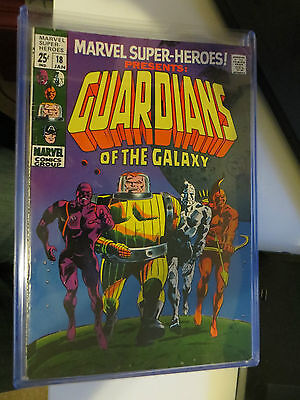 Marvel Super Heroes 18 Grade 7.5 / 8 Origin and 1st App Guardians of the Galaxy