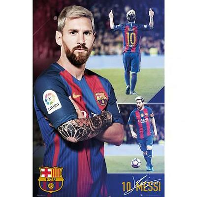 Official Licensed Product FC Barcelona Poster Messi Collage 63 Wall Gift New