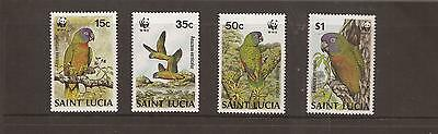 Saint Lucia 1987 Birds Mnh Set Of Stamps