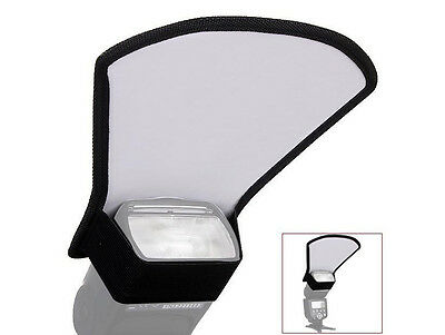 Universal Camera Flash Diffuser Softbox Reflector Silver and White - UK SELLER