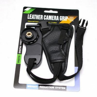 Leather Wrist Hand Grip Wrist Strap SLR DSLR Nikon Sony Pentax Canon UK Stock