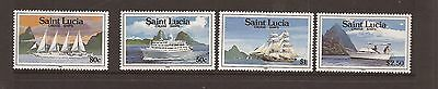 Saint Lucia 1991 Cruise Ships Mnh Set Of Stamps