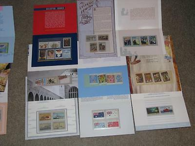 Australia-9 different Stamp Folios complete with stamps, Lot A1