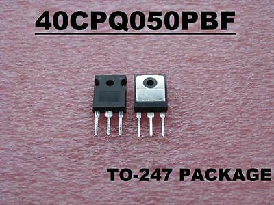 40CPQ050PBF DIODE SCHOTTKY 50V 20A TO-247 ( Qty 5 ) *** NEW ***