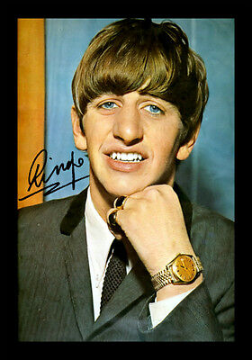 Ringo Starr Signed Autograph A4 Framed Xmas Gift Present READ DESCRIPTION