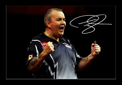 Phil Taylor Darts Signed Autograph A4 Framed Xmas Gift Present READ DESCRIPTION