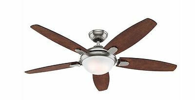 """NEW Hunter 54"""" Contemporary LED Brushed Nickel Fan with Remote Control"""