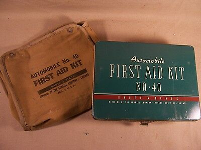 Vintage Automobile First Aid Kit Bauer & Black made in USA