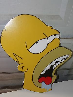 The Simpsons HOMER Styrofoam Head Sign Wall Picture Homer Drooling LARGE