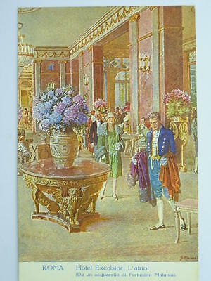 """Advertising-Hotel-""""excelsior""""-Italy-Rome-Vf9-X71622"""