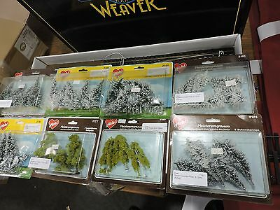 8 x HEKI H/O OR N SCALE READY MADE TREES ASSORTED  TREES # 2