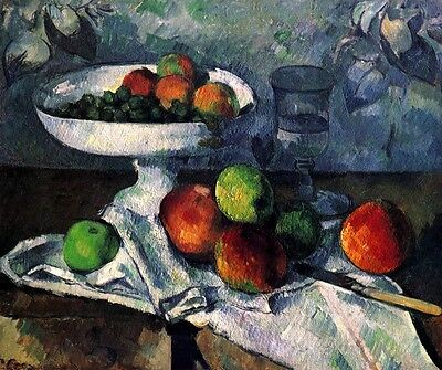 Still Life with Fruit Bowl Painting by Paul Cézanne Art Reproduction