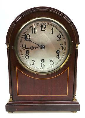 5 Gong Antique English Musical Mahogany Bracket Clock Westminster Chime Feature