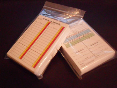 Football / Soccer Referee Score Cards Sheets Pad Record x 50 Fits in a Wallet