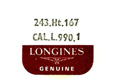 New Old Stock Longines L.990.1 Ht 1.67 Cannon Pin + Clam Notch Watch Part #243
