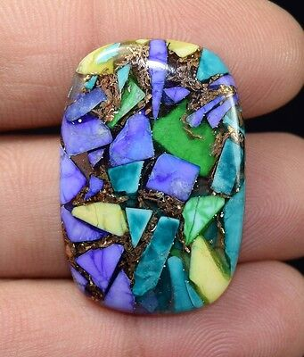 29.15  Cts. Natural  Copper  Colorful  Howlite  Cushion Cab  Loose  Gems