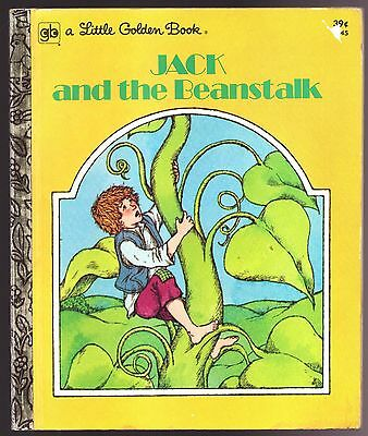 Vintage Children's Little Golden Book JACK AND THE BEANSTALK 1st Ed