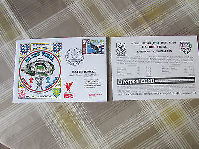 LIVERPOOL v WIMBLEDON FA Cup Final 1988 Official FOOTBALL Cover Series no 20