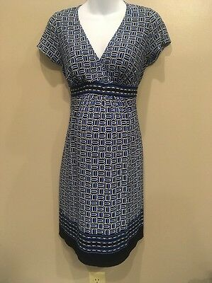 Motherhood Maternity Nursing Medium Sharp Vibrant Color Dress W Tie Backs