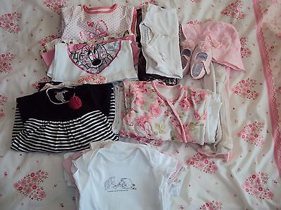 3-6 months baby girls clothes bundle (30pc)