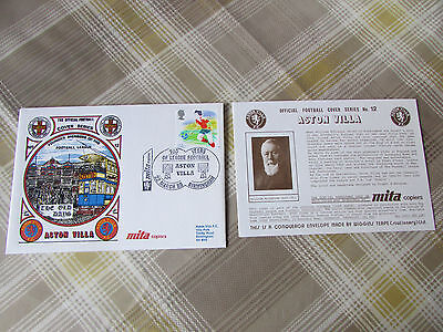 ASTON Villa Founder Members of League 1988 Official FOOTBALL Series Cover no 12