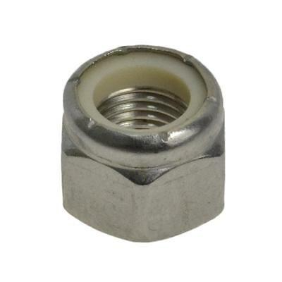"""Hex Nyloc Nut 5/16"""" UNF Imperial Fine Stainless Steel G304"""