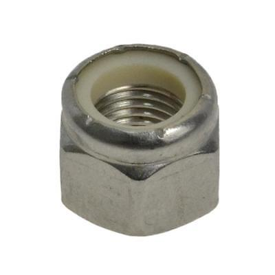 """Hex Nyloc Nut 3/8"""" UNF Imperial Fine Stainless Steel G304"""