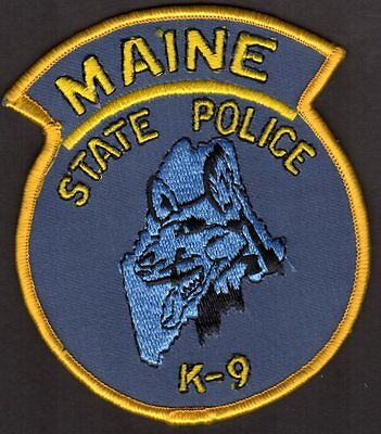 Maine State Police Shoulder Patch  K9    FREE USA SHIPPING