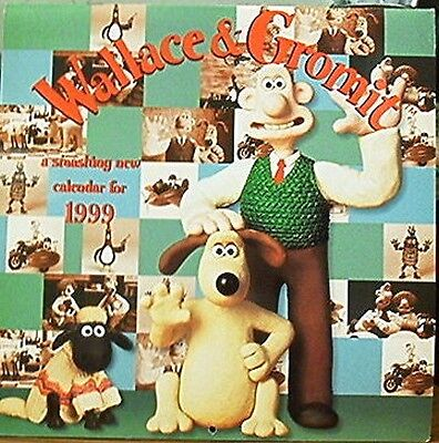 WALLACE & GROMIT 1999 CALENDAR Very Colorful Nick Parks.