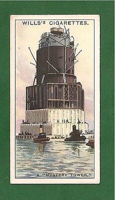 A MYSTERY TOWER built for secret purpose Towed Shoreham Portsmouth  1931 card