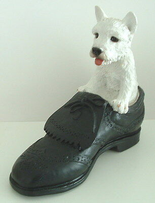 West Highland terrier in shoe Northlight dog figure