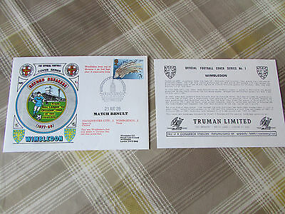 WIMBLEDON 1986 First Ever Match in Division 1 Official FOOTBALL Series Cover