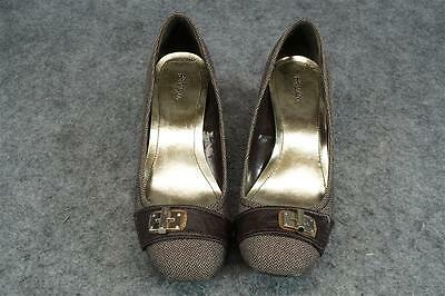 Style & Co. Women's Connie Wedge Pumps In Dark Brown Size 7M