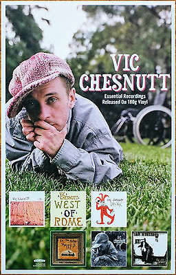 VIC CHESNUTT Essential Recordings 2017 Ltd Ed RARE Poster +FREE Folk Rock Poster