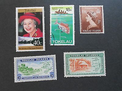 TOKELAU ISLANDS 5 Various Stamps