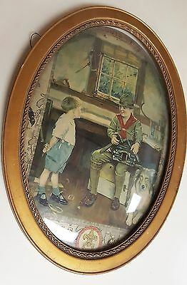 Antique Boy Scouts of America Framed Picture - Rare & Unique Find!