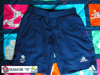 Adidas Team Gb Issue - Training For Rio In  2016 - Athlete Woven Shorts