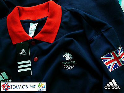 Adidas Team Gb Issue - 2016 Olympic Games - Athlete  Navy Blue Event Polo Shirt