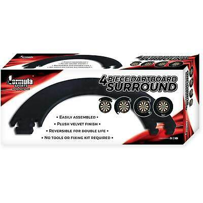 Formula Sports 4 Piece Dartboard Surround, Darts Accessories, Black, Blue or Red