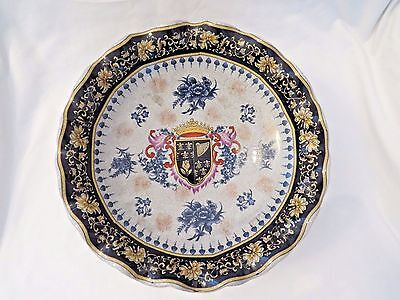 Exquisite Centerpiece Compote with Coat of Arms