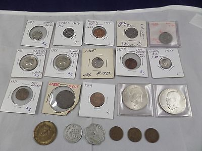 Lot of US Coins - Error Coins, Ike Dollars, Indian Head Pennies, Tokens, etc.