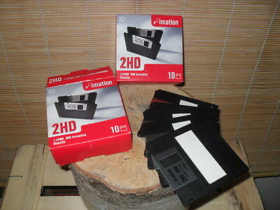 """15 x 'Imation' 3.5"""" Floppy 2HD IBM Formatted 1.44MB new/boxed"""