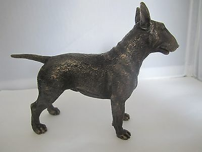 English Bull Terrier figure cold cast bronze LARGER model by Veronese Designs
