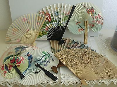 Collection of 8 fans, Chinese style,1 boxed